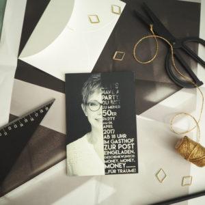 """Design einer Einladung """"Modern mit Foto"""""""