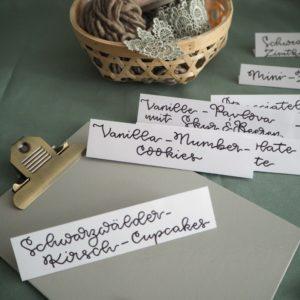 """Handlettering für Buffetkarten """"Sweet Table"""""""