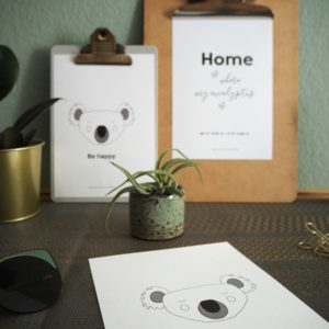 "Design eines 3er-Sets Print ""Koala Love"""